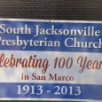 South Jacksonville Presbyterian Church  celebrated its 100th Anniversary this past weekend.  Thanks to the Lopez family for providing photos of Sunday's festivities. An Important Part Of Jacksonville's Heritage… (Source:  http://www.sjaxpc.org/about/history/ ) […]