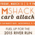 You're Invited!   Chefs Matthew and David Medure invite you to join them for a carbo-loading feast 5 to 9 pm Friday, March 13th at M Shack San Marco. Taste some of Chef […]