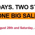 TWO DAYS. TWO STORES. ONE BIG SALE! Friday, August 28th and Saturday, August 29th Designer Items as low as $5 at the Snob Outlet  1930 San Marco Blvd  Open 11-5 (weather permitting) ________________________ […]