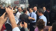 The Marco Rubio Campaign made a stop in San Marco Square this morning. Here is the presidential hopeful being greeted by Mayor Curry.
