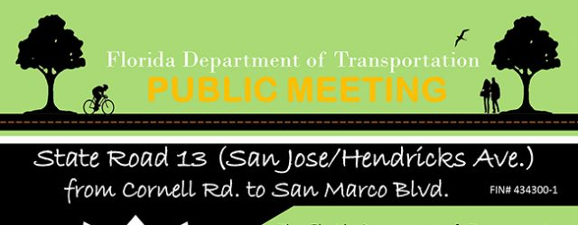 Public Meeting to discuss Hendricks Avenue resurfacing project (from San Marco Blvd. to Cornell Rd.) Full details noted below: